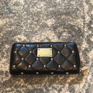 Michael Kors Studded Zip-Around Wallet